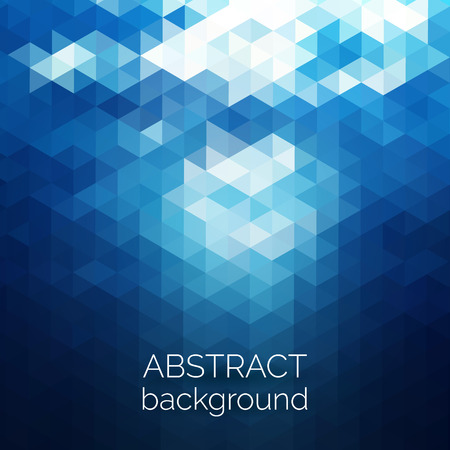 Abstract triangles pattern background. Blue water geometric background. Vector illustration