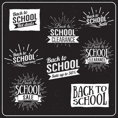 espalda: Volver a la Escuela Tipográfica - Estilo vintage Volver a Hot Deals Escuela Diseño Layout en formato vectorial