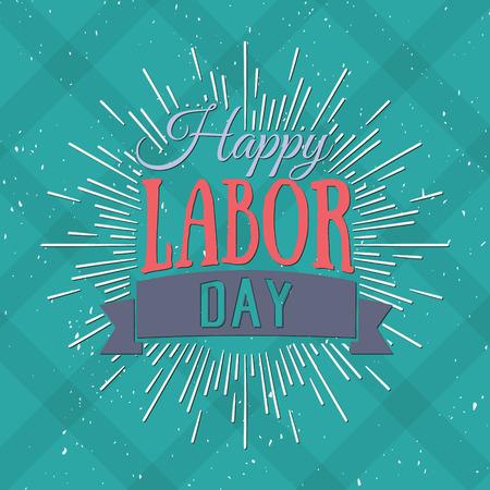 day: Ilustración vectorial Día del Trabajo un día de fiesta nacional de los Estados Unidos. Americana cartel diseño Feliz Día del Trabajo.