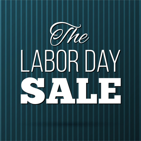 Vector Illustration Labor Day a national holiday of the United States. American Labor Day Sale design poster.