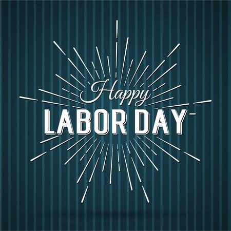 ベクトル図労働日をアメリカ合衆国の国民の祝日。アメリカのハッピー労働者の日デザインのポスターです。