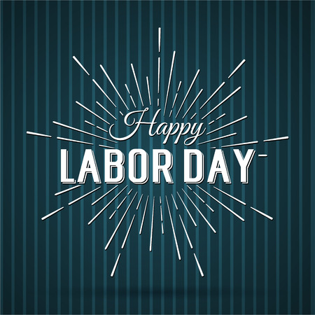 Ilustración vectorial Día del Trabajo un día de fiesta nacional de los Estados Unidos. Americana cartel diseño Feliz Día del Trabajo. Foto de archivo - 44206758