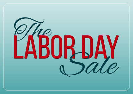 labor: Vector Illustration Labor Day a national holiday of the United States. American Labor Day Sale design poster.