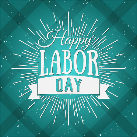 national holiday: Vector Illustration Labor Day a national holiday of the United States. American Happy Labor Day design poster.