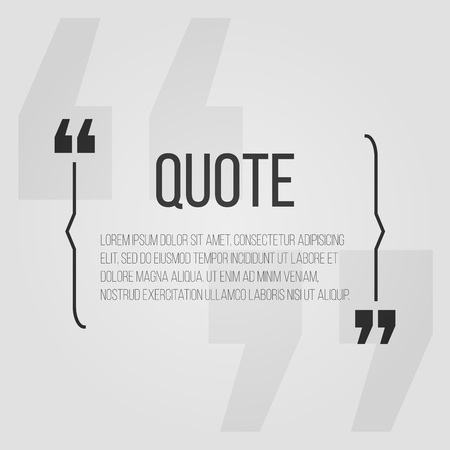 message box: Quote blank with text bubble with Commas. Vector template for note,message, comment. Dialog box. Illustration