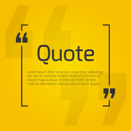 dialog box: Quote blank with text bubble with Commas. Vector template for note,message, comment. Dialog box. Illustration