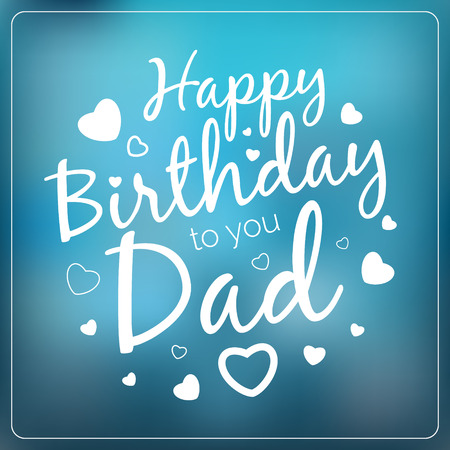 typography vector happy birthday to you dad card template vintage