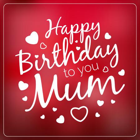 joyeux anniversaire maman vecteur typographie joyeux anniversaire vous maman modle de carte vintage