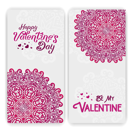 Valentines Day Card Template Lacy Romantic Indian Style – Valentines Card Template