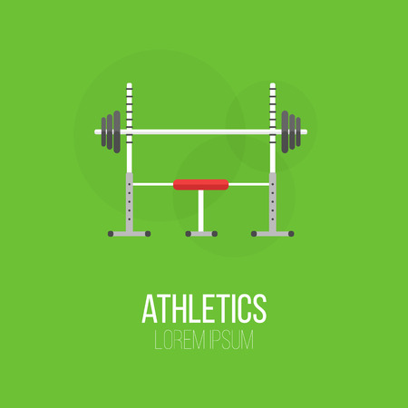 sport equipment: Sport equipment flat banner template. Gym training, bodybuilding, healthy and active lifestyle, fitness elements.