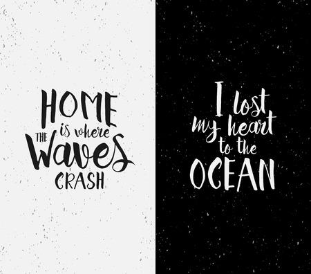 Citaten Zee : Hand getekend inspirerende citaten over de oceaan zee en thuis