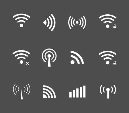 remote access: Vector wireless and wifi icon for remote access and communication via radio waves. remote access icon. Wireless label. Wi-Fi icon, Wi-Fi pictograph, Wi-Fi web icon, Wi-Fi icon vector Illustration