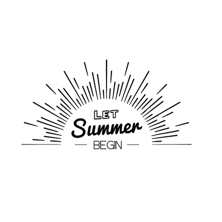 Summer Time logo Template. Isolated Typographic Design Label. Hello Summer Holidays lettering for invitation, greeting card, prints and posters. Summer party Vector template. Enjoy The Summer layout