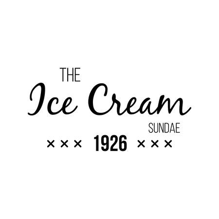 sorbet: Ice Cream Design Badges and Labels. Vector Illustration. Ice Cream Logo design element. Retro label for Ice Cream Shop. Vintage Emblem Creamery. Ice Cream and Frozen Yogurt Logos. Summer badges. Illustration