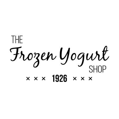 frozen yogurt: Ice Cream Design Badges and Labels. Vector Illustration. Ice Cream Logo design element. Retro label for Ice Cream Shop. Vintage Emblem Creamery. Ice Cream and Frozen Yogurt Logos. Summer badges. Illustration