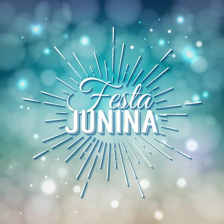 midsummer: Festa Junina. Traditional Brazil June festival party - Midsummer holiday. Latin American holiday, the inscription in Portuguese Festa Junina.