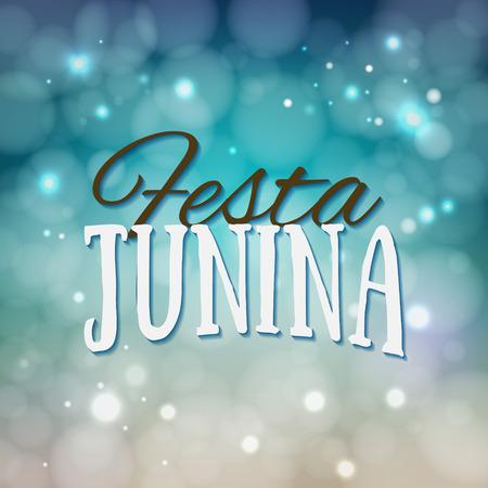 midsummer: Festa Junina. Traditional Brazil June festival party - Midsummer holiday. Latin American holiday, the inscription in Portuguese Festa Junina. Vector Illustration