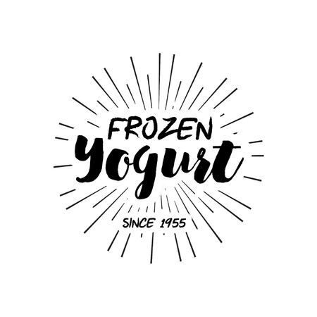yogurt: Ice Cream Design Badges and Labels. Vector Illustration. Ice Cream design element. Retro label for Ice Cream Shop. Vintage Emblem Creamery. Ice Cream and Frozen Yogurt Logos. Summer badges.