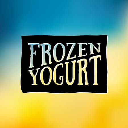 frozen yogurt: Frozen Yogurt Design Badges and Labels. Vector Illustration. Ice Cream Shop design element. Vintage Emblem Creamery. Summer time banners Illustration