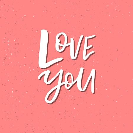 私は愛を心に強く訴えるバレンタインの日ロマンチックな引用手書き。ご挨拶、ポスター、t シャツ、プリント、カード、バナーに適しています。ベ