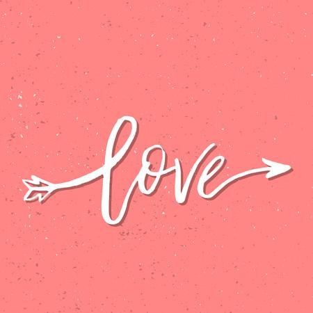 私はあなたを愛しています - インスピレーションバレンタインデーロマンチックな手書きの引用。あなたのデザインのための挨拶、ポスター、Tシャ
