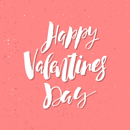 インスピレーションバレンタインデーロマンチックな手書きの引用。挨拶、ポスター、Tシャツ、プリント、カード、バナーに適しています。ベクト
