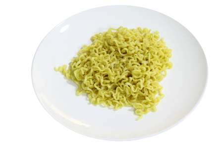 instant noodles isolated