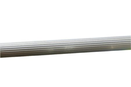 Aluminum rails on a white background. 写真素材
