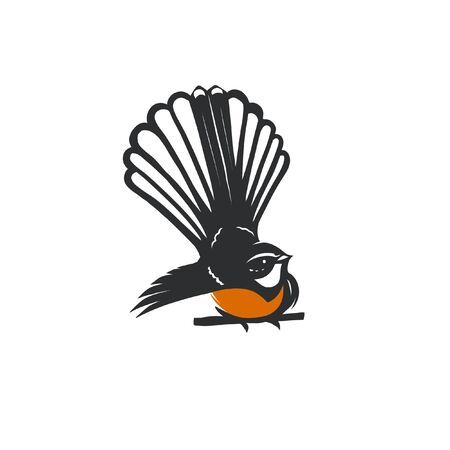 Fantail bird vector illustration art Banque d'images - 139342620