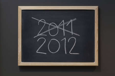 New year 2012 written on a blackboard photo