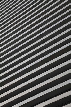 Black and white Stripes, detail of a building photo