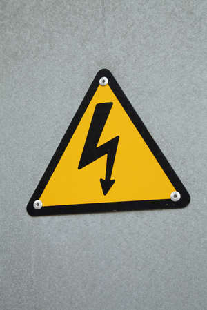 high voltage: Electricity danger signal Stock Photo