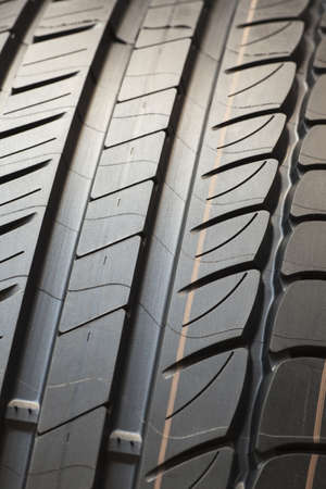 Detail of brand new tire isolated photo