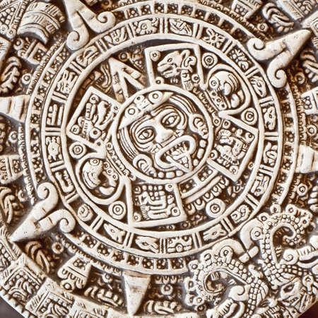 past civilization: Ancient religious symbol in Mexico Stock Photo