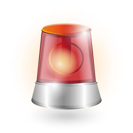 detention: red siren warning alarm, fire alarm, chrome elements, background