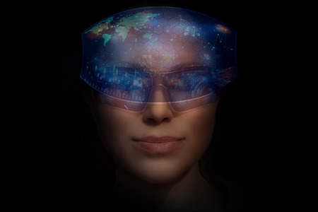 woman with the virtual glasses