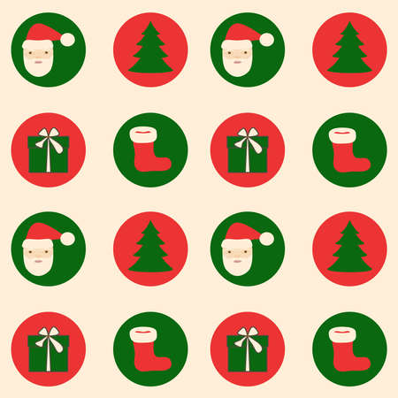 Seamless pattern Merry Christmas and Happy New Year.