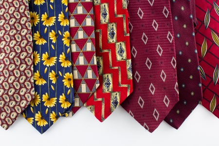 the outdated: Outdated Ties Stock Photo
