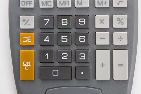 subtraction: Calculator Against White Background