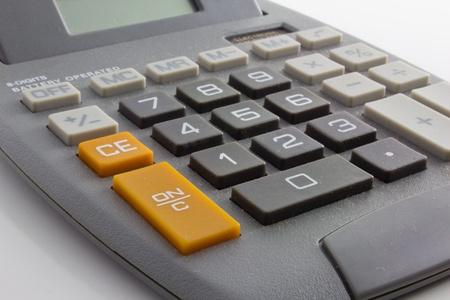 Calculator Against White Background 版權商用圖片 - 12957000
