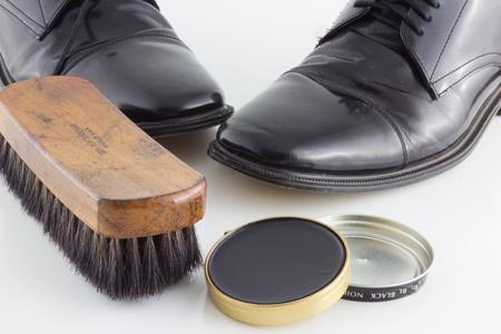 Schoenen poetsen Time Stockfoto