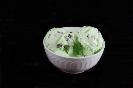 Mint Chocolate Chip Ice Cream Stok Fotoğraf