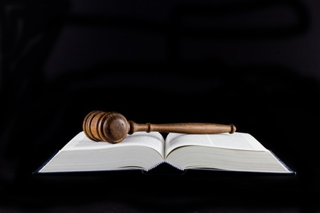 Legal Text Books and A Gavel