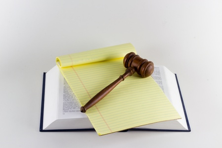 opinions: Gavel atop Legal Texts