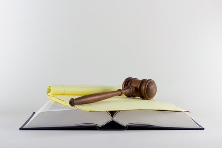 Gavel atop Legal Texts Stock Photo - 13186734