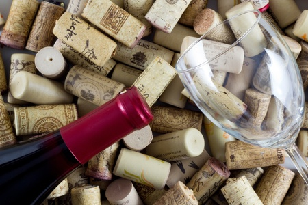 white zinfandel: Wine Bottle Corks Editorial