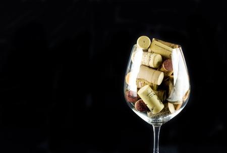 white zinfandel: Wine Bottle Corks Stock Photo