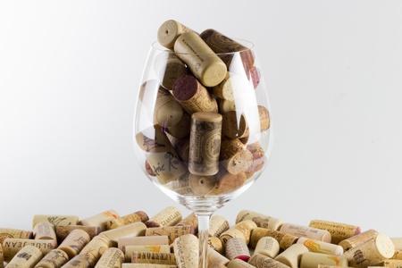 ワインの瓶のコルク栓
