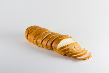 A loaf of bread against a solid background. Stock Photo - 13186739