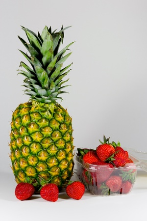 Pineapple and Strawberries